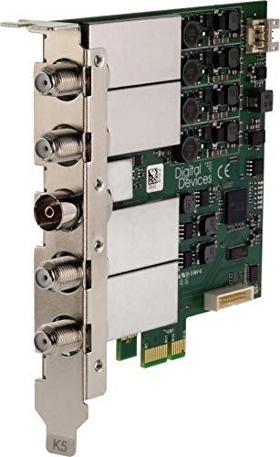 Digital Devices Max M4 – 4 Tuner TV-Karte Multi-Band (Alle Empfangsarten, SAT, Kabel, Terrestrisch, Unicable, U-HD / 4K / HEVC) - PCIe, 24/7 tauglich