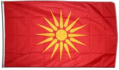 Flaggenfritze Fahne/Flagge Mazedonien alt 1992-1995 + gratis Sticker