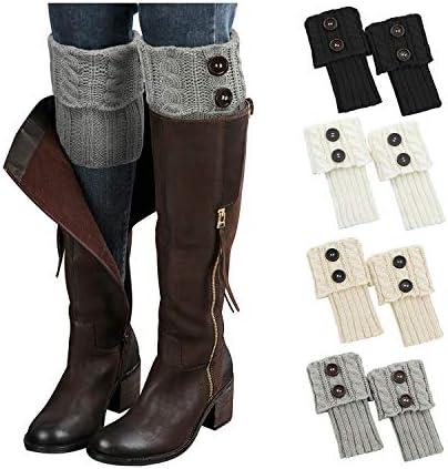 Zando Winter Womens Boot Socks Short Leg Warmers for Women Knitted Crochet Boot Cuffs Womens product image