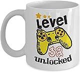 Thorea 32ème anniversaire tasses pour les hommes drôles - Niveau 32 débloqué - 32...