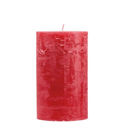Rustico durchgefärbte, strukturierte Stumpenkerze 200/100mm Rot | Brenndauer: ca. 150 Std | Original von Steinhart