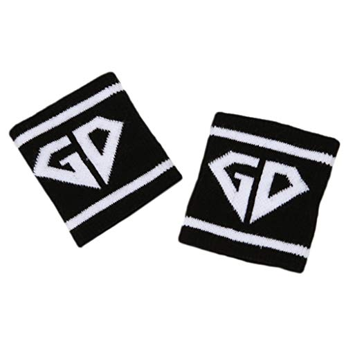GROOMY Sleeve Sleeve, 2Pcs/Pair Adult Kids Running Sports Wristband Sweatband Hip-Hop Letters Colored Striped Dancing Wrist Support Brace Wraps Guards-L