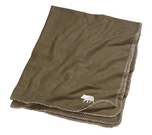 K & S fleece deken groen met kielermotief 150 x 120 cm