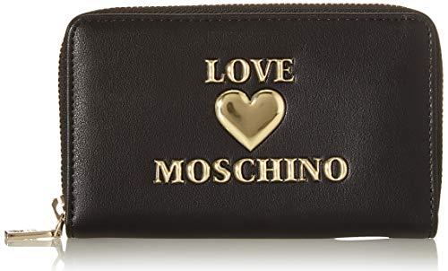 Love Moschino PU, Portafogli Donna, Nero, Normale