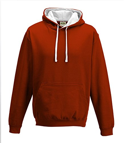 Cotton Ridge AWDis Varsity Hoodie : Color - Fire Red : Size - XXL