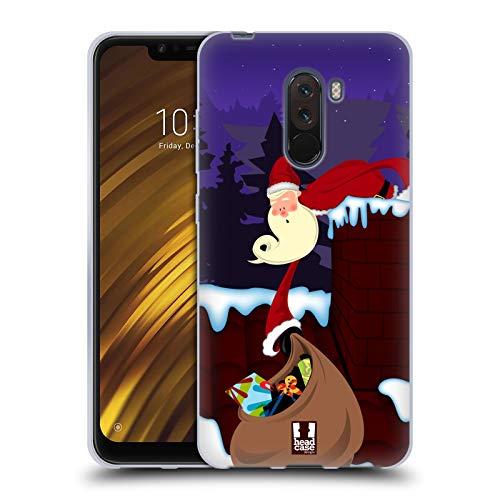 Head Case Designs Kamin Dünn Weihnachtsmann Soft Gel Huelle kompatibel mit Xiaomi Pocophone F1 / Poco F1