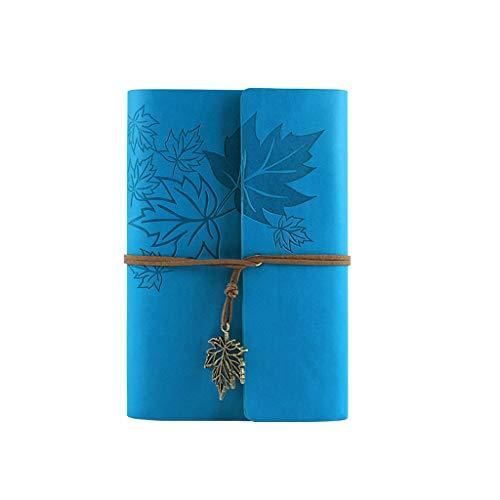 Vfhdd Cuaderno de piel para escribir con espiral clásico y rellenable.