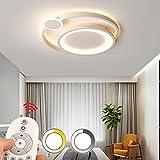 Lámpara de techo LED para dormitorio mesa de comedor regulable con mando a distancia lámpara de techo moderna de...