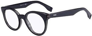 فيندي نظارة طبية دائرية للنساء - شفاف، Ff0198-L1A-47