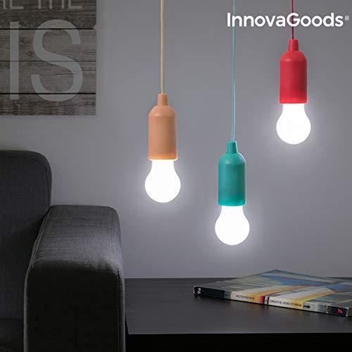 InnovaGoods Bombilla LED Portátil con Cordón, Aleatorio
