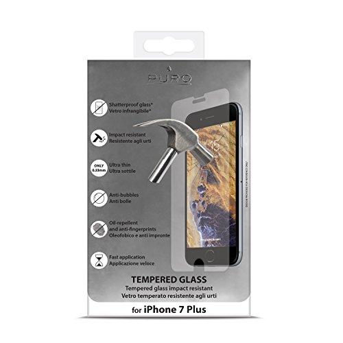 PURO SDGIPHONE755 Vetro Temperato per iPhone 7 Plus/8 Plus, Trasparente