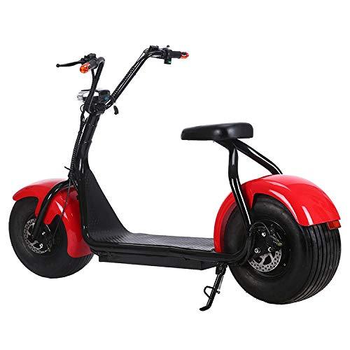 amayituo Elektroroller City Pull Zweirad Adult Travel Elektro Harley Riesenrad Breitreifenelektro Moped