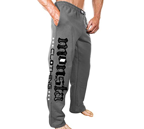 Monsta Clothing Co. Men's Bodybuilding (ES:MC-Monsta Flag) Gym Sweatpants (G:GY) Grey