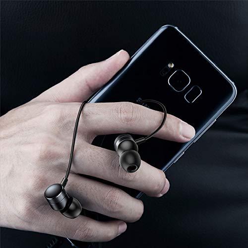 In-Ear-Kopfhörer, HD Geräuschunterdrückung, Kopfhörer mit Mikrofon, H04 Subwoofer Kopfhörer, geeignet für iPhone, Android und MP3-Player Schwarz