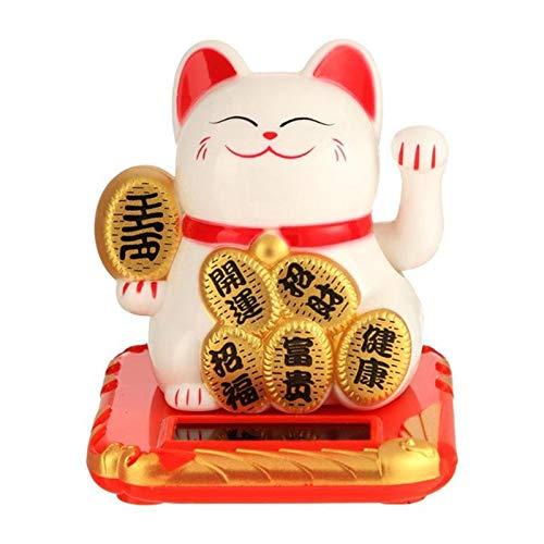 Adornos de gato de la suerte solar, gato de la suerte, gato de la suerte, gato de la suerte, gato de la suerte japonés, Feng Shui, gato de la suerte, regalo de cumpleaños para la decoración del