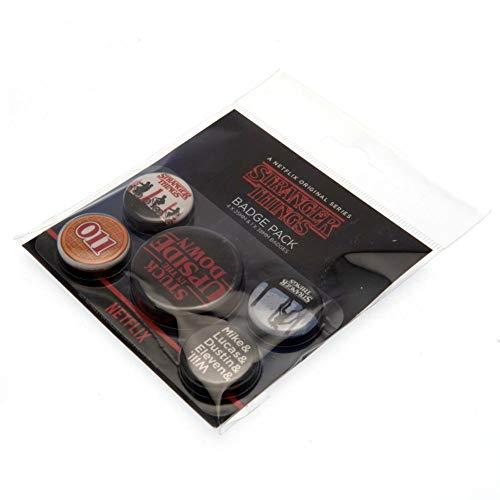 Stranger Things Badge Pack, Multi-Colour, 10 x 12.5cm
