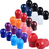36 Piezas Puntas de Repuesto para los Oídos para Estetoscopios, Auriculares Universales de Sellado Suave (Color del Arco Iris)