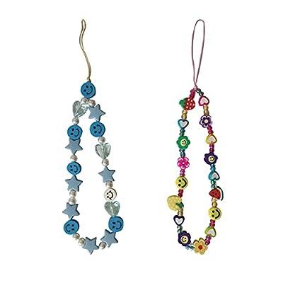 Amazon - 50% Off on Smiley Face Beads for Phone Charm Kawaii, Phone Beads Strap Handmade Clay Plastic Pony