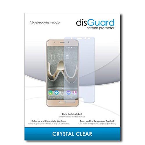 disGuard® Bildschirmschutzfolie [Crystal Clear] kompatibel mit Wiko U Feel Prime [2 Stück] Kristallklar, Transparent, Unsichtbar, Extrem Kratzfest, Anti-Fingerabdruck - Panzerglas Folie, Schutzfolie