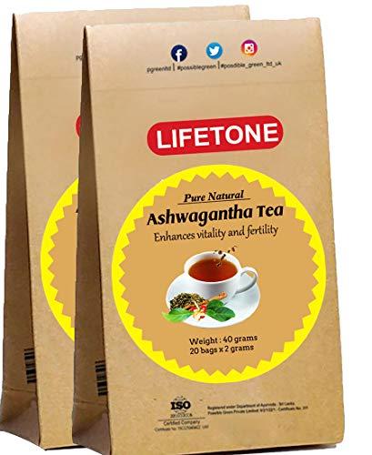 Té de raíz de Ashwagandha   Refuerzo herbario del humor   Té para aliviar el estrés   40 bolsitas de té