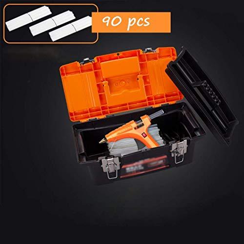 Handwerk Heißkleber Pistole, 80W, 120W Dual Power Professionelle Heißklebepistole, reines Kupfer Leimdüse und Halterung, Geeignet for DIY-Kunst-Schaffung, Fast Wartung, orange Heißklebepistolen