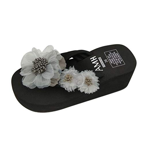 Luckycat Dames zomer elegante mode sandalen enkelriem gesp sandalen dames zomer sandalen zoete bloemen charme sandalen strand clip toe schoenen