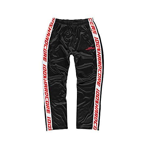 100% Hardcore Trainingshose Sport, Black Gabber Techno Sportpants (S)