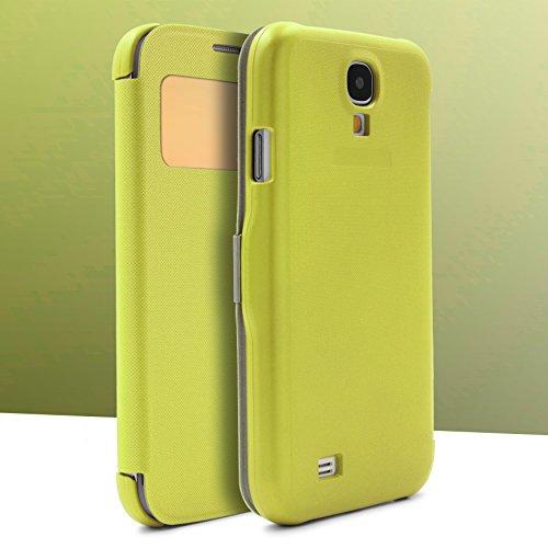 Urcover® Schutzhülle kompatibel mit Samsung Galaxy S4, Wallet [ Mit Sichtfenster & Magnetverschluss ] Case Cover Smartphone Schale Etui in Hell Grün