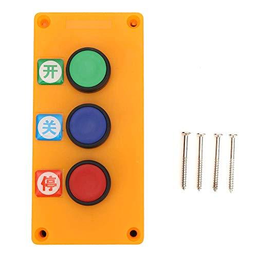 Interruptor de puerta - Puerta Interruptor de botón manual Reinicio automático Interruptor de tres vías Accesorios para suministros industriales