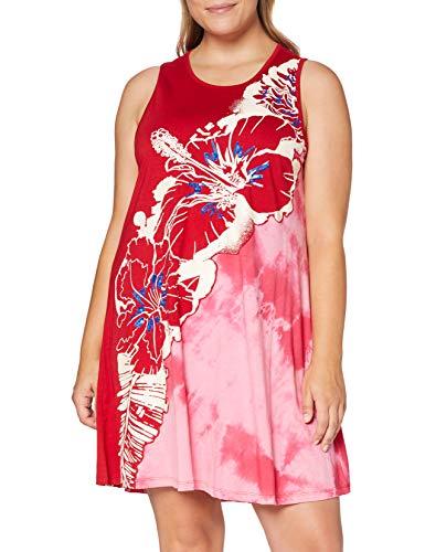 Desigual Vest_Virginie Vestido, Rojo (Carmin 3000), Medium para Mujer