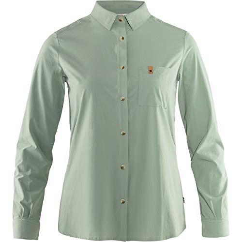 FJALLRAVEN Damen Övik Lite Shirt Ls W Unterhemd, Salbeigrün, S