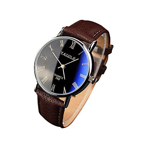 Herren Business Quarz Uhr, Analog Quarzuhr Männer Lederarmbanduhr Damen Uhr Herren Herrenarmbanduh Quarzuhr