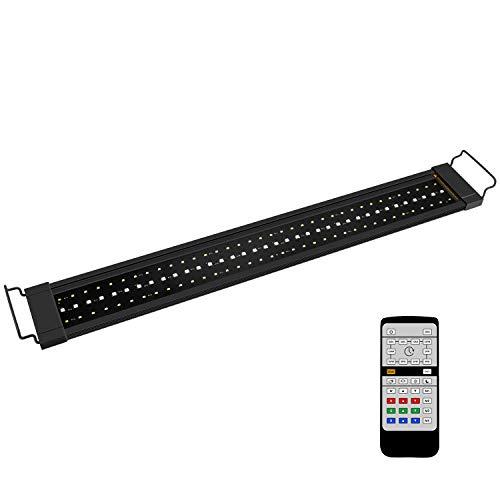 NICREW RGB Plus Rampe LED Aquarium, 24/7 Automatisation Complète d'Eclairage avec Télécommande pour la Croissance des Plantes, Lumière Aquarium 77-110 cm, 22W