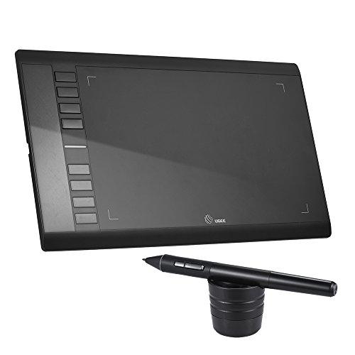 """Ugee M708 Tabletas Gráficas para la Artista -10"""" * 6"""" Área Activa/ 5080 LPI / 230RPS / 2048 Niveles de Sensibilidad a la Presión,Negro"""