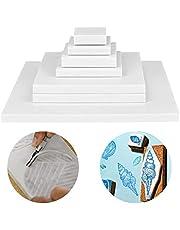 Cren 6 Pack White Rubber Carving Blocks Printing Linoleum Block Soft Craft Tools for DIY Carving Printing Stamping