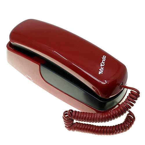 Teléfono Fijo Tipo GÓNDOLA - Sobremesa o Pared. Rellamada. Marcación por Tonos o pulsos. MX-ONDA Mod. MX-TF47 Color Granate