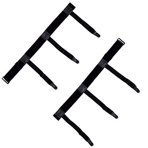 DonDon Herren Hemdhalter elastisch und längenverstellbar Schwarz 2-teilig