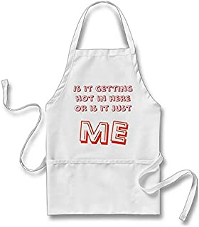 Goodaily is It Getting Hot in Here Or is It Just Me Apron for Men Women with Pockets
