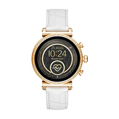 Michael Kors Access Women's Sofie Heart Rate' Stainless Steel Touch-Screen Smartwatch with...