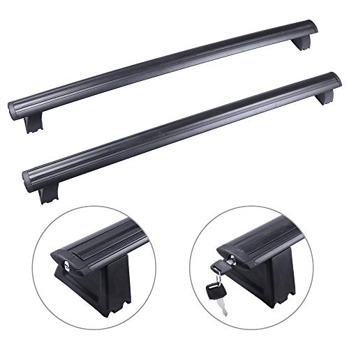 AUTOMUTO Cross Bars fit for 2011 2012 2013 2014 2015 2016 2017 2018 2019 for Jeep Grand Cherokee Aluminum Black Kayak Roof Rack Roof Top Bar Luggage Carrier with Lock -  104599-5227-1840280151
