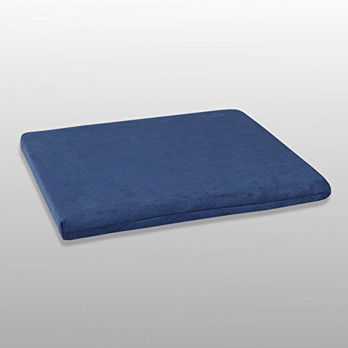 Fränkische Schlafmanufaktur Stuhlkissen viscoelastisch, Rollstuhlkissen, Sitzkissen 40x40x3, Color Blau