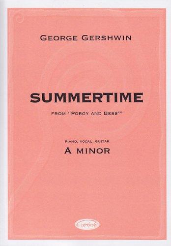 CARISCH GERSHWIN GEORGES - SUMMERTIME (A MINOR) - PVG Jazz&Blues Noten Klavier, Gesang, Gitarre