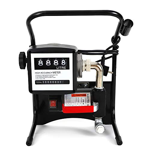 Preisvergleich Produktbild RANZIX Elektrisch Ölabsaugpumpe 375W Heizölpumpe Selbstansaugend Dieselpumpe 40L / min Ölpumpe Mit 4m Schlauch,  Zählwerk,  Automatik-Zapf-Pistole,  Bequemes Tanken