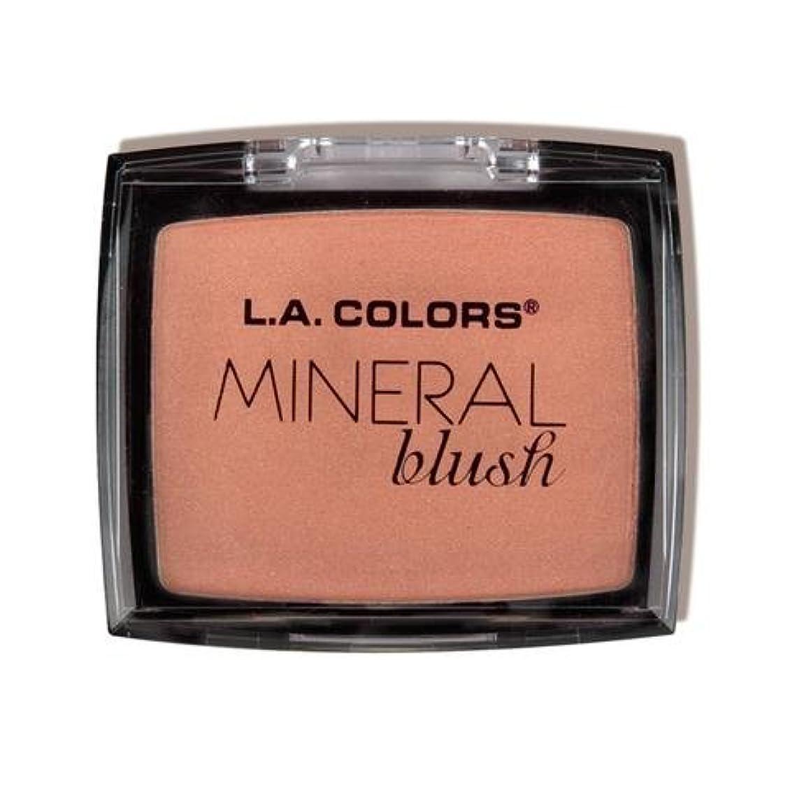危機市の中心部分配します(6 Pack) L.A. COLORS Mineral Blush - Blushing (並行輸入品)
