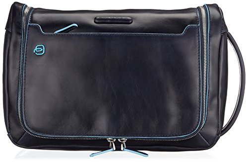 Piquadro Move 2 Beauty Case da Viaggio, Pelle, Blu, 30 cm