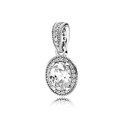 Pandora 925 plata esterlina DIY joyería Charmbead vintage elegancia colgante encanto ajuste moda mujer collar joyería regalo