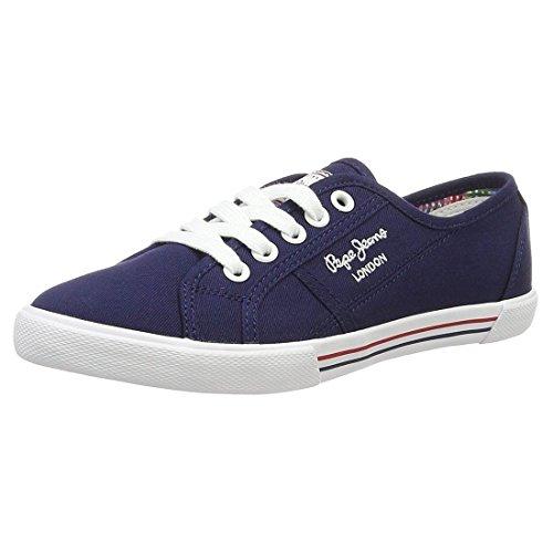 Pepe Jeans London Damen ABERLADY Basic 17 Sneaker, Blau (585marine 585), 39 EU