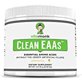 Clean EAA™ by VitaMonk - EAAs with No Artificial Sweeteners for Pre-Workout, Energy and Recovery - Max Bioavailable EAA Powder with 9 Essential Amino Acids - Natural Lemonade Flavor