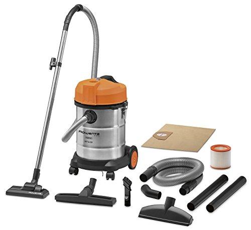 Rowenta RU5053EH Aspirateur Multifonctions Cuve Eau et Poussières Wet & Dry 1500W Tous Terrains Souffleur Inox et Orange