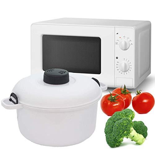 MovilCom - Olla Vapor microondas | Cocina al Vapor | fácil, rápido y Saludable